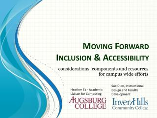Moving Forward Inclusion & Accessibility