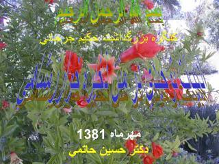 كنگره بزرگداشت حكيم جرجاني مهرماه 1381 دكتر حسين حاتمي