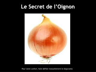 Le Secret de l Oignon