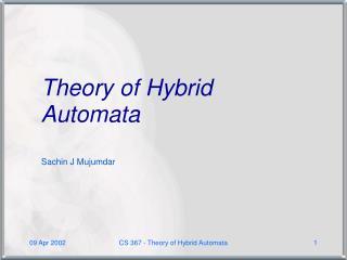 Theory of Hybrid Automata