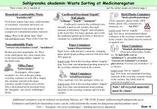 Sahlgrenska akademin: Waste Sorting at Medicinaregatan