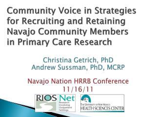 Christina  Getrich , PhD  Andrew  Sussman , PhD, MCRP