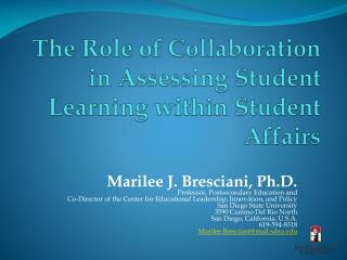The Role of Collaboration in Assessing Student Learning within Student Affairs