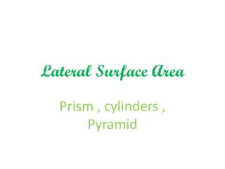 Lateral Surface Area