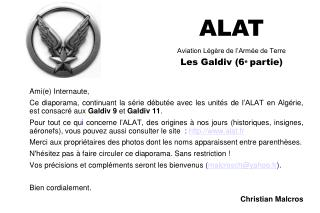 ALAT Aviation L g re de l Arm e de Terre Les Galdiv 6e partie