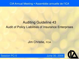 CIA Annual Meeting  � Assembl�e annuelle de l�ICA