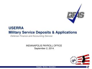 USERRA Military Service Deposits & Applications