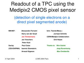 Readout of a TPC using the Medipix2 CMOS pixel sensor