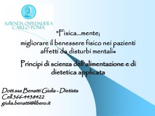 """""""Fisica..nte; migliorare il benessere fisico nei pazienti affetti da disturbi mentali«"""