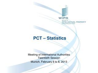 PCT � Statistics