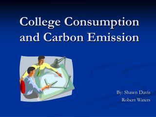 College Consumption and Carbon Emission
