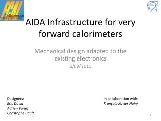 AIDA Infrastructure for very forward calorimeters