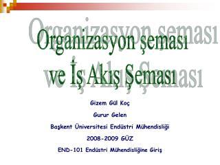 Gizem G l Ko  Gurur Gelen Baskent  niversitesi End stri M hendisligi 2008-2009 G Z END-101 End stri M hendisligine Giris