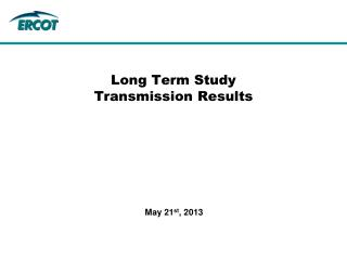 Long Term Study  Transmission Results