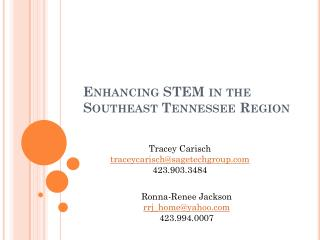 Enhancing STEM in the Southeast Tennessee Region