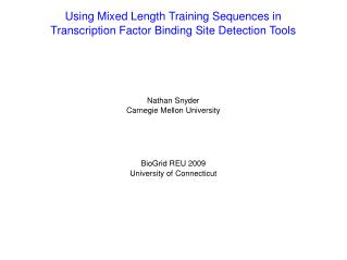 Using Mixed Length Training Sequences in Transcription Factor Binding Site Detection Tools