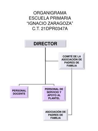 ORGANIGRAMA ESCUELA PRIMARIA  IGNACIO ZARAGOZA  C.T. 21DPR0347A