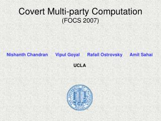 Covert Multi-party Computation