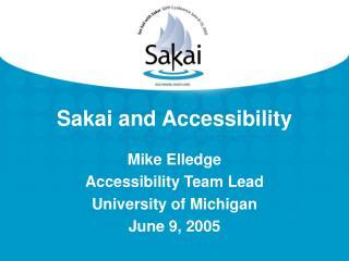 Sakai and Accessibility