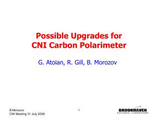 Possible Upgrades for  CNI Carbon Polarimeter
