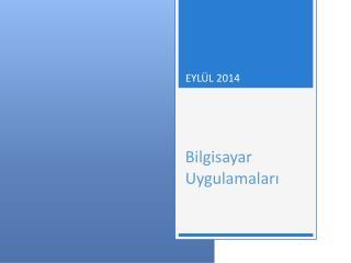 EY L ÜL  2014 Bilgisayar Uygulamaları