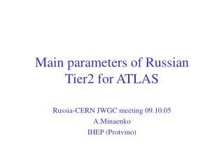 Main parameters of Russian Tier2 for ATLAS
