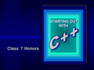 Class  7 Honors