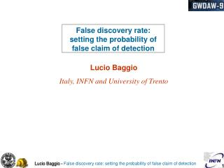 False discovery rate: setting the probability of false claim of detection