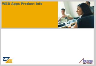 WEB Apps Product Info