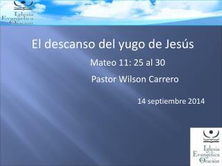 El descanso del yugo de Jesús