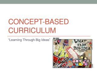 Concept-Based Curriculum