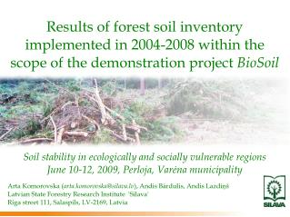 Soil stability in ecologically and socially vulnerable regions