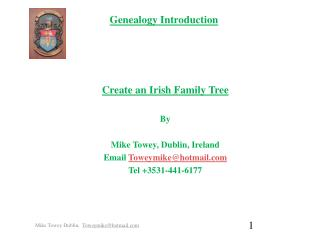 Genealogy Introduction