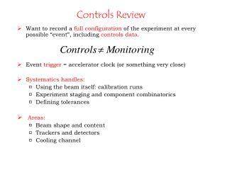 Controls Review