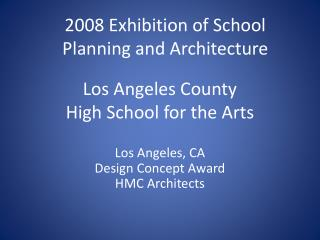 Los Angeles County  High School for the Arts