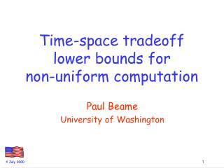 Time-space tradeoff lower bounds for         non-uniform computation