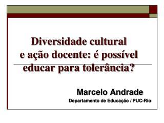 Diversidade cultural e ação docente: é possível educar para tolerância?