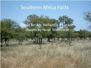 Southern Africa Facts