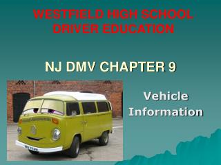 NJ DMV CHAPTER 9