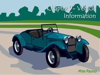 Chapter 9- Vehicle Information
