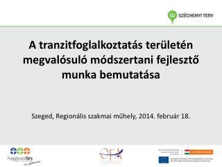 A tranzitfoglalkoztatás területén megvalósuló módszertani fejlesztő munka bemutatása