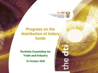 Progress on the distribution of lottery funds