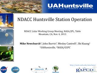 NDACC Huntsville Station Operation