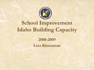 School Improvement Idaho Building Capacity