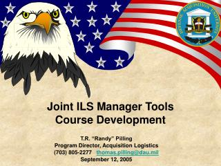 Joint ILS Manager Tools Course Development