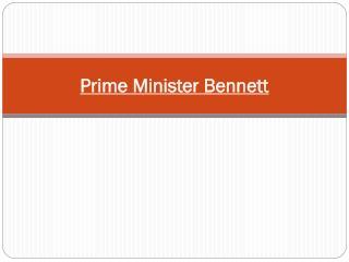 Prime Minister Bennett