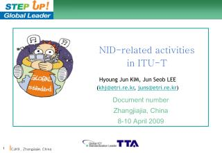 NID-related activities in ITU-T