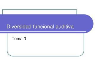 Diversidad funcional auditiva