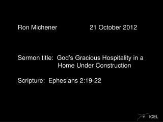 Ron  Michener   21 October  2012