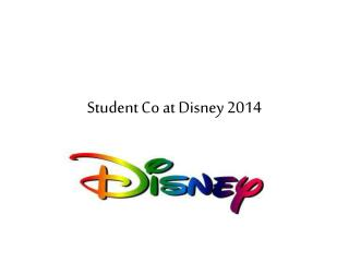 Student Co at Disney 2014